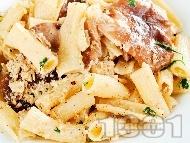 Рецепта Паста с гъби и моцарела